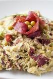 Piatto di risotto con asparago e il bresaola Immagine Stock Libera da Diritti