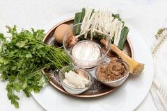 Piatto di Seder, pesach Immagine Stock