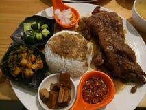 Piatto di Taiwan della carne di maiale fotografia stock