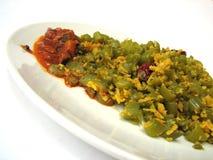 Piatto di verdure indiano con il sottaceto Immagini Stock