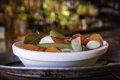 Piatto di verdure piccante Fotografia Stock