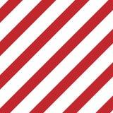 piatto diagonale rosso e bianco di cautela delle bande illustrazione vettoriale