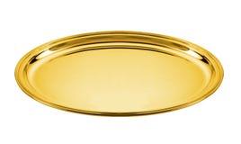 Piatto dorato Immagine Stock Libera da Diritti