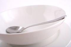 Piatto e cucchiaio Immagini Stock