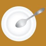 Piatto e cucchiaio profondi Immagini Stock Libere da Diritti