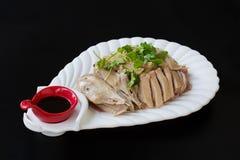 Piatto freddo cinese: duck il ya del qie di bai o il ya di shui di yan in cinese Immagini Stock Libere da Diritti