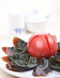 Piatto freddo - uova di secolo Fotografia Stock