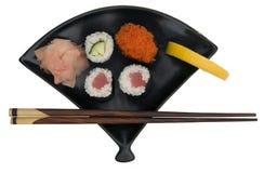 Piatto fresco dei sushi fotografia stock