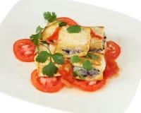 Piatto fritto del tofu fotografia stock