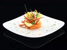 Piatto gastronomico Fotografia Stock Libera da Diritti