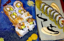 Piatto gastronomico dei sushi illustrazione di stock