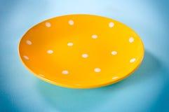 Piatto giallo Fotografie Stock