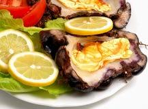 Piatto greco dei frutti di mare Fotografie Stock Libere da Diritti