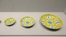 Piatto imperiale della porcellana fotografia stock libera da diritti