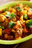 Piatto indiano del curry di Gobi Aloo Fotografia Stock Libera da Diritti