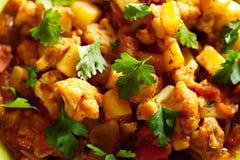 Piatto indiano del curry di Gobi Aloo Immagine Stock Libera da Diritti