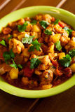 Piatto indiano del curry di Gobi Aloo Immagini Stock Libere da Diritti