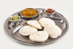 Piatto indiano dell'alimento (al minimo) Immagini Stock Libere da Diritti