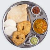 Piatto indiano dell'alimento (vade ed al minimo e dosa) Fotografia Stock