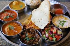 Piatto indiano di thali di rajasthani Fotografia Stock Libera da Diritti
