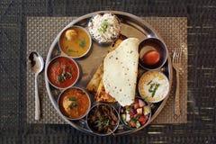 Piatto indiano di thali di rajasthani Fotografie Stock Libere da Diritti