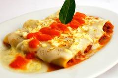 Piatto italiano Bolognese di Canelones Fotografia Stock