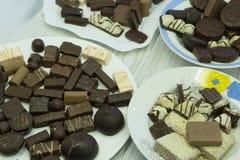 Piatto italiano dolce del partito di palhaitaliana del latte della paglia, fotografia stock