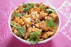Piatto laterale dei fagioli crema della soia, curry di masala dei fagioli della soia di Paladai Fotografia Stock Libera da Diritti