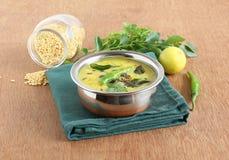 Piatto laterale di Dal Curry Healthy Indian Vegetarian Fotografie Stock