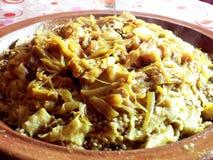 Piatto marocchino: Rfissa Fotografie Stock