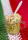 Piatto messicano del cereale conosciuto come Esquites Immagine Stock Libera da Diritti