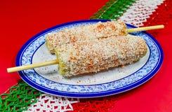 Piatto messicano del cereale. Elote Fotografia Stock