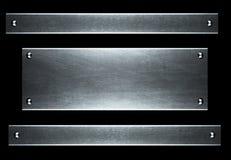 Piatto metallico di alluminio spazzolato utile per il backgro Fotografia Stock