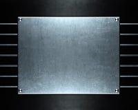 Piatto metallico di alluminio spazzolato utile per il backgro Fotografia Stock Libera da Diritti