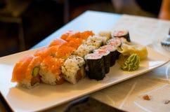 Piatto misto dei sushi Fotografia Stock