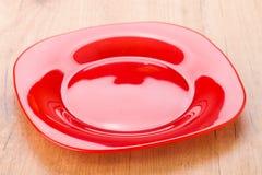 Piatto moderno e luminoso rosso luminoso Fotografie Stock Libere da Diritti