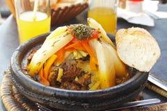 Piatto nazionale del Marocco - tajine Immagine Stock Libera da Diritti