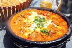 Piatto nazionale del Marocco - tajine Immagini Stock