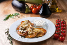 Piatto nazionale ucraino delle patate Immagini Stock
