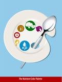 Piatto nutriente di colore illustrazione vettoriale