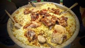 Piatto orientale della carne di Mansaf Immagini Stock