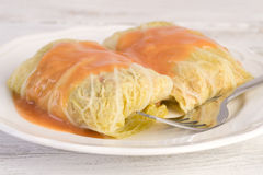 Piatto polacco tradizionale - golabki Immagini Stock