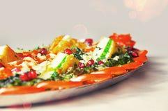 Piatto principale dell'alimento indiano Fotografia Stock