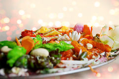 Piatto principale dell'alimento indiano Fotografie Stock