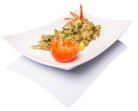 Piatto profondo II di Fried Chicken Liver Immagine Stock