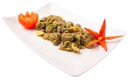 Piatto profondo IV di Fried Chicken Liver Fotografie Stock