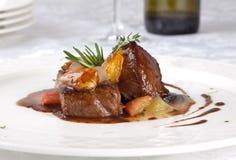 Piatto-Raccordo caldo della carne di manzo Immagini Stock