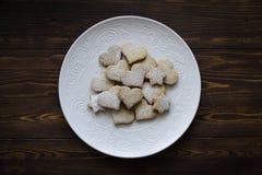 Piatto rotondo dei biscotti di zucchero Immagini Stock Libere da Diritti
