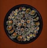Piatto rotondo dei sushi immagini stock libere da diritti