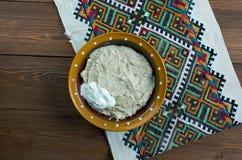 Piatto russo della farina d'avena Fotografie Stock